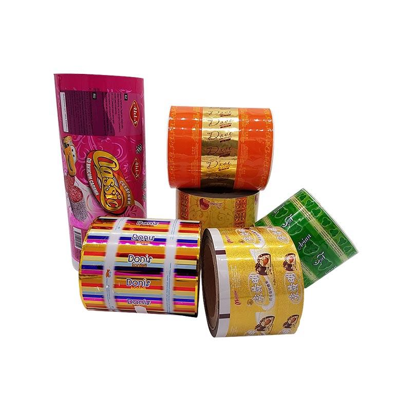 High Barrier Laminated Film Roll Stock with Custom Printing for Snack Food Packing