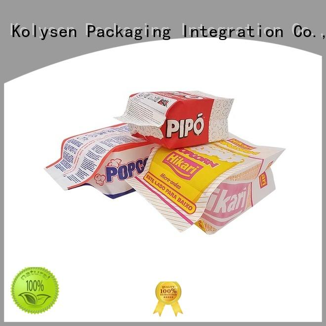 Kolysen sealed food packaging directly price for wrapping sauce