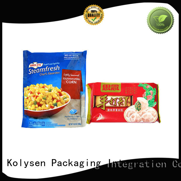 Kolysen standup food packaging bag buy products from china used in electronics market