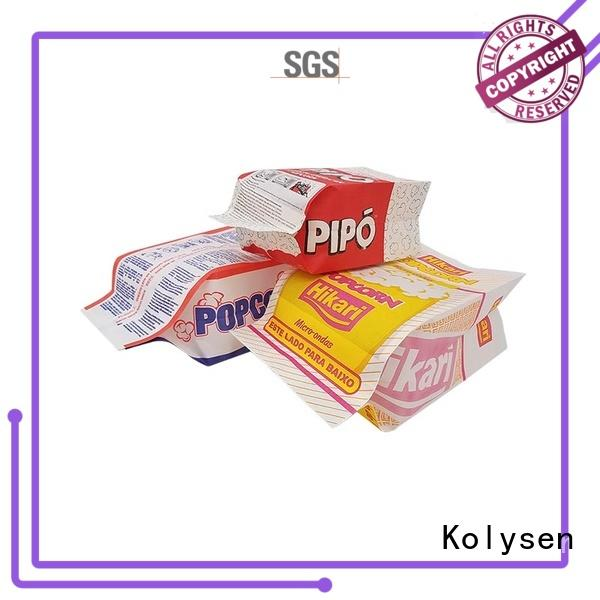 Kolysen new design microwave popcorn paper bag wholesale online shopping used in electronics market