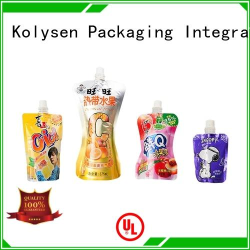 Kolysen standup doypack packaging buy products from china for wrapping milk