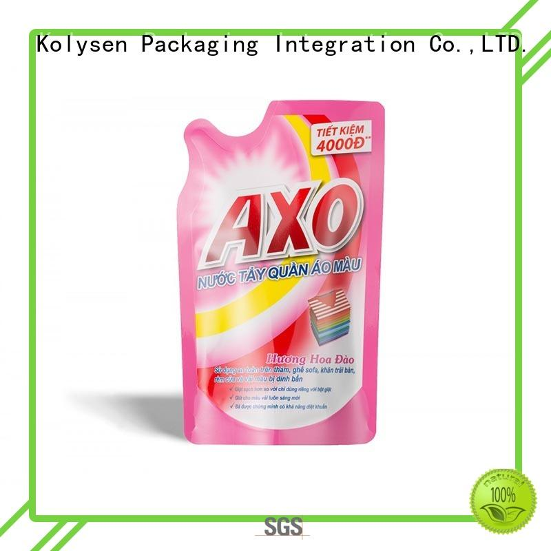 Kolysen shaped pouch directly price for wrapping fruit juice