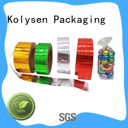 Kolysen gold aluminum foil wholesale products for sale for wrapping chocolate