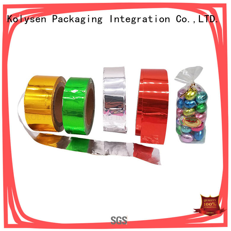 Kolysen printed chocolate foil wrap china products online for pharmaceutical