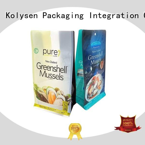 Kolysen new design stand up pouch bags directly price for wrapping fruit juice