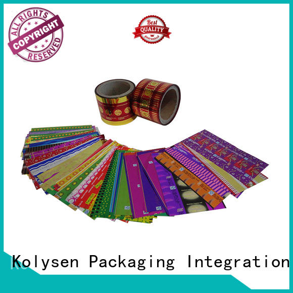 Kolysen candy wrapping from China for food packaging