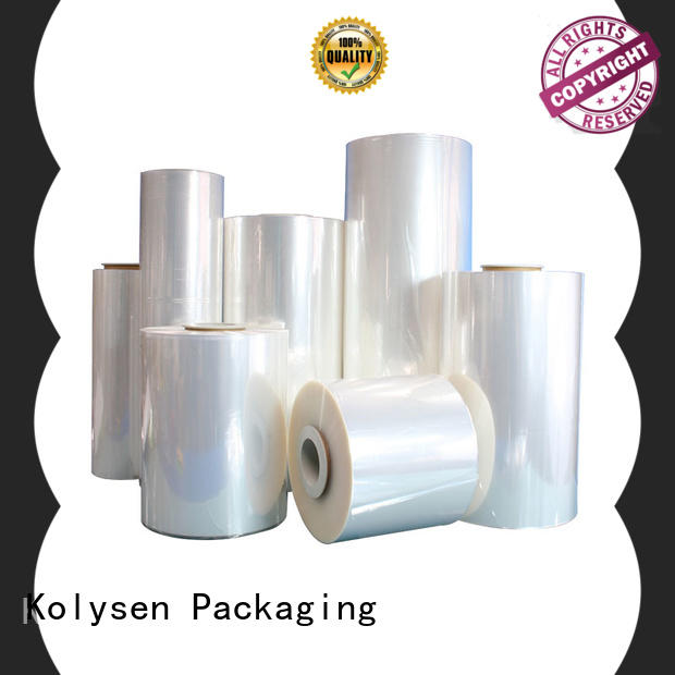 Kolysen pvc shrink film from China for tamper evident seals