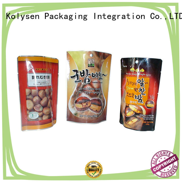 Kolysen standup candy packaging directly price for wrapping beverage