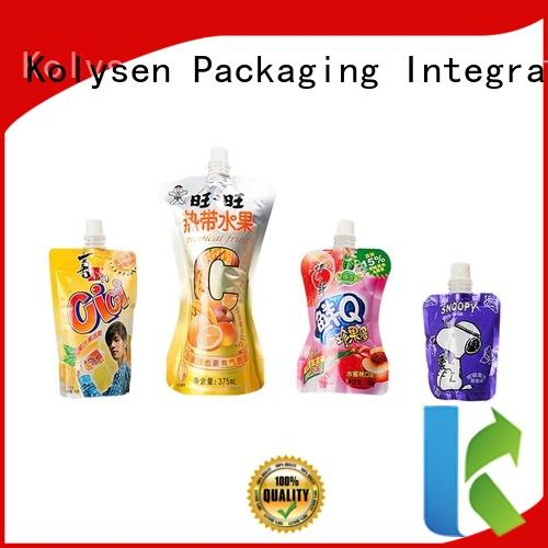 Kolysen food grade stand up pouches for food packaging Supply for wrapping yoghurt