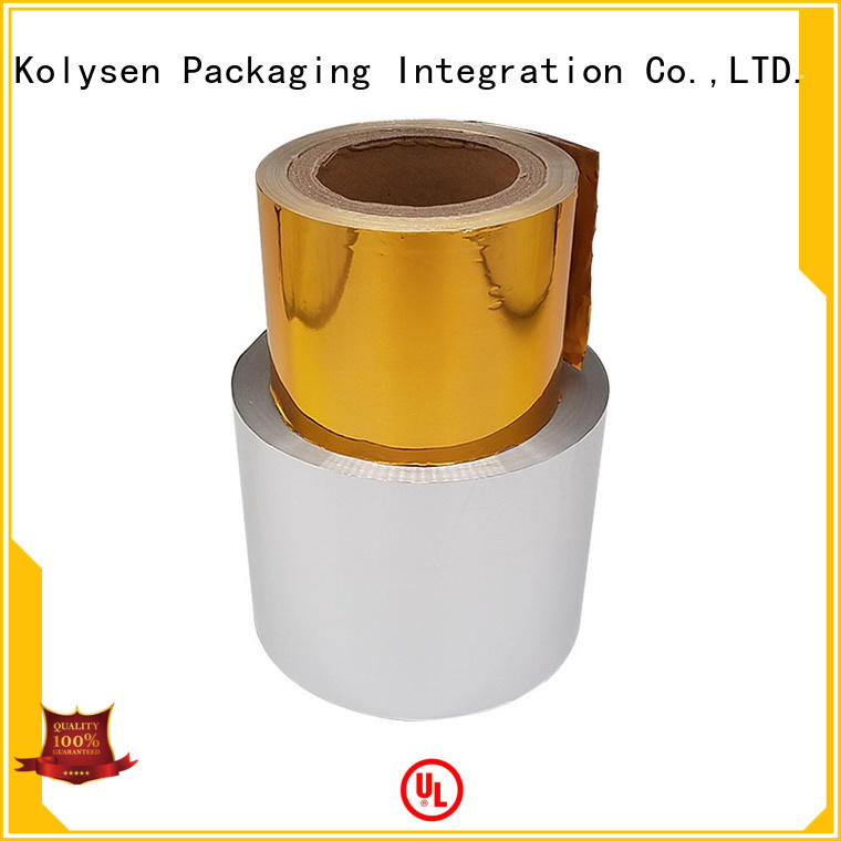 Kolysen butter foil wrapper manufacturer for wrapping ice cream