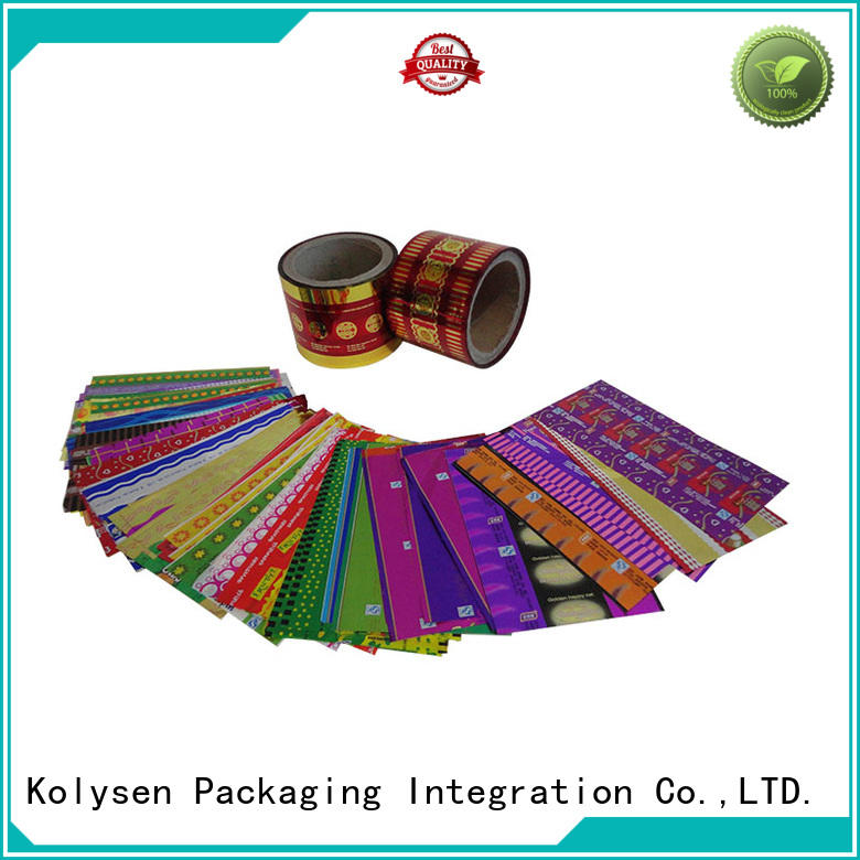popular plastic film packaging from China for tamper evident seals