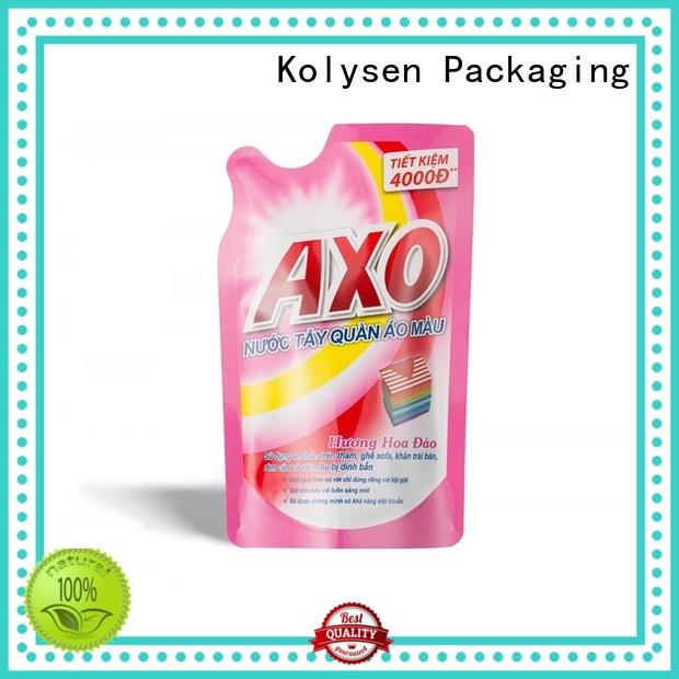 Kolysen food grade stand up pouches for food packaging directly price for wrapping yoghurt