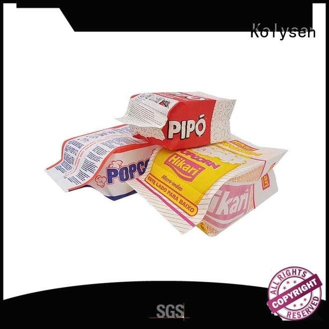Kolysen High-quality hot dog foil bags wholesale online shopping for wrapping fruit juice
