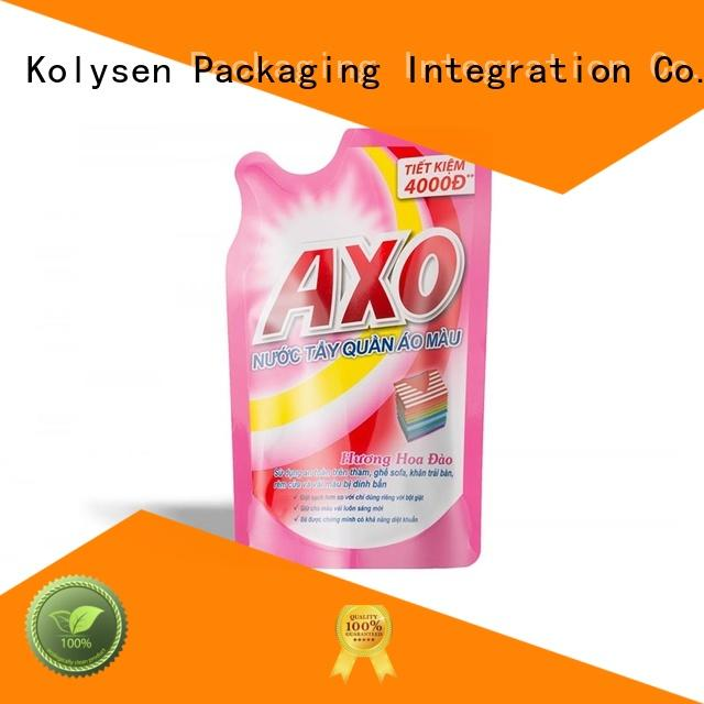 Kolysen stand up pouch directly price for wrapping yoghurt