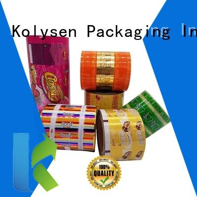 Kolysen cookie packaging manufacturers for wrapping soft drink