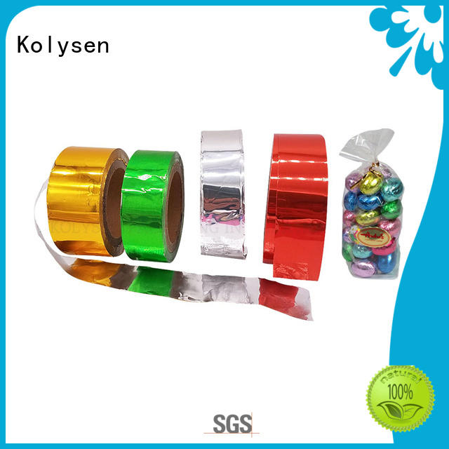 Kolysen chocolate foil china products online for wrapping cheese