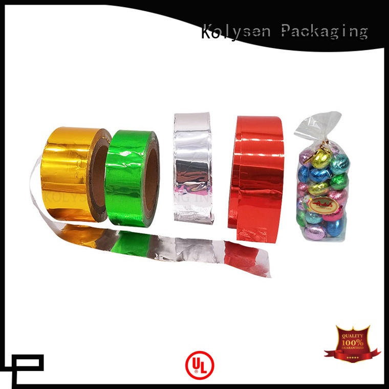 Kolysen colorful foil lid china products online for wrapping confectionery