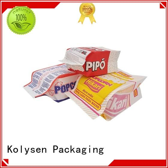 Kolysen Custom microwave popcorn paper bag wholesale online shopping used in food and beverage