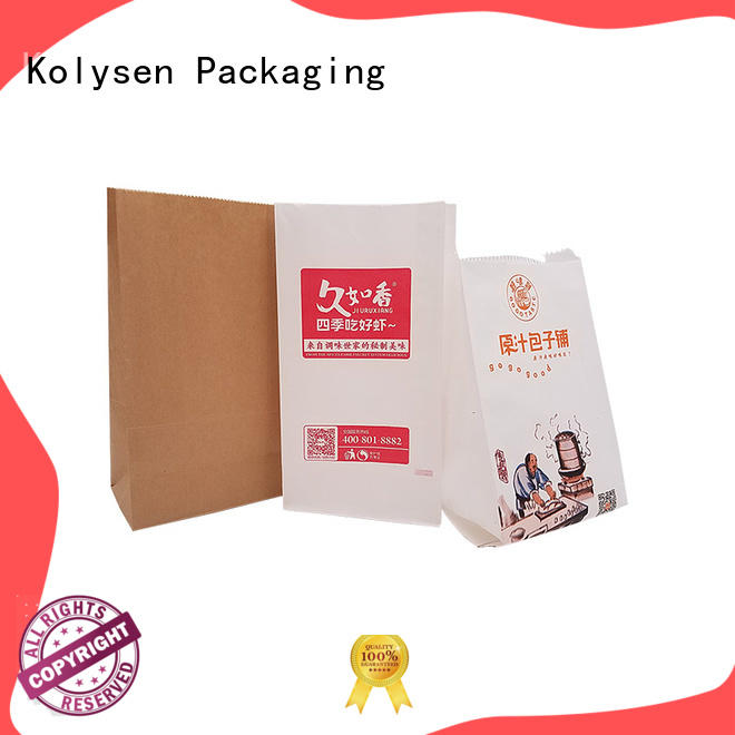 Kolysen food grade rice paper stand up pouches company for wrapping fruit juice