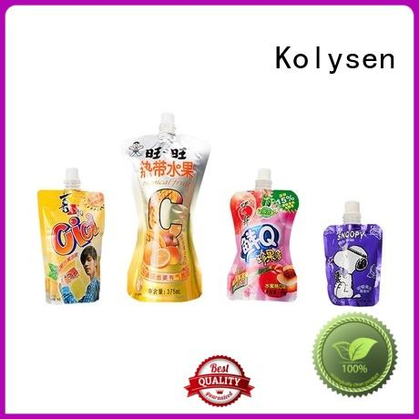 Kolysen standup plastic packaging bags for food wholesale online shopping for wrapping beverage