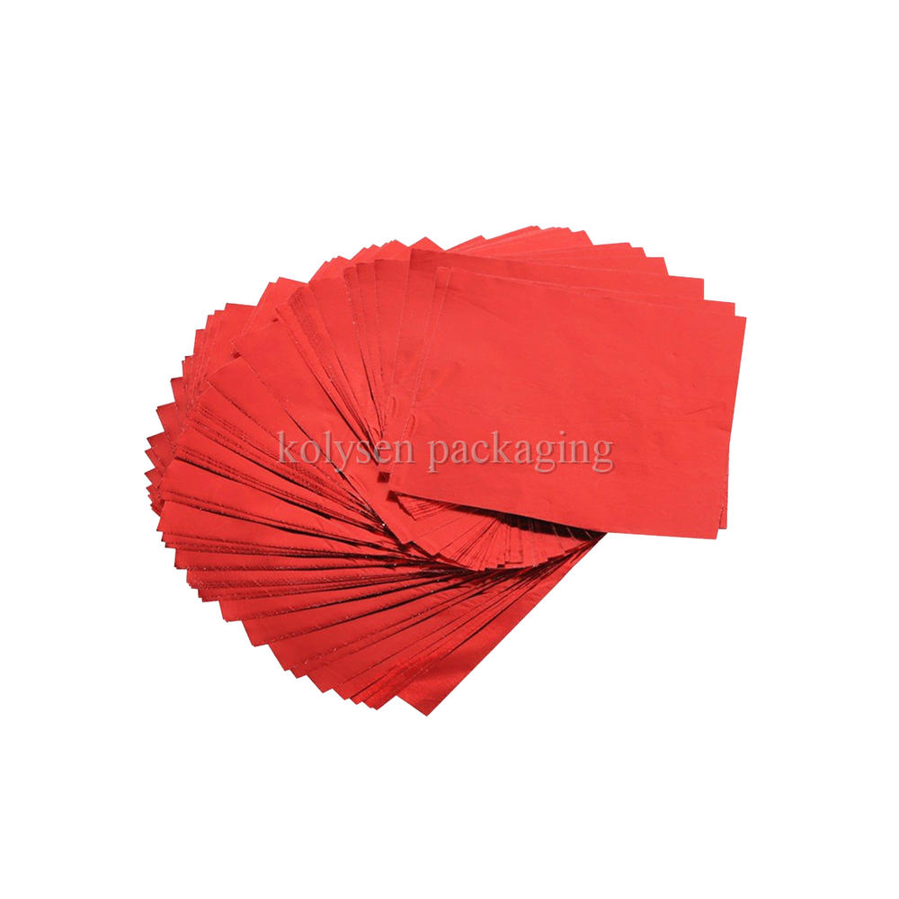 Red Foil Candy Wrappers