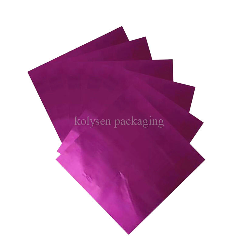 Purple Foil Candy Wrappers