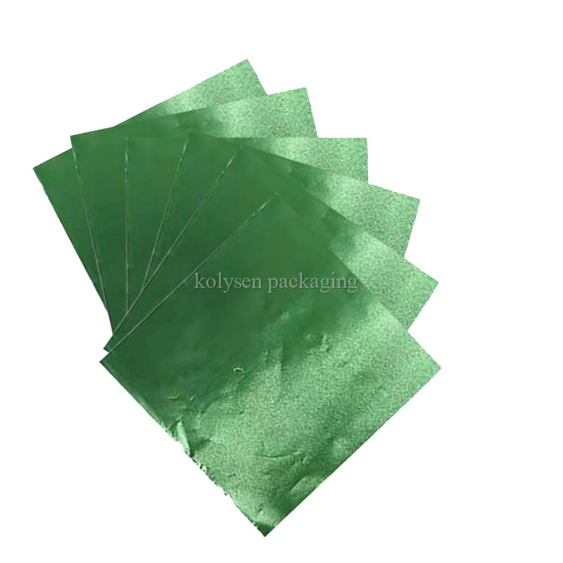Green Foil Candy Wrappers