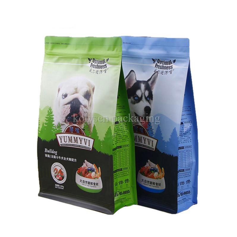 Custom Printed Flat Bottom Pouches for Pet Food