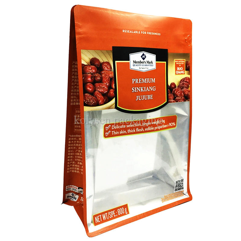 Box Bottom Snack Bag with Clear Window