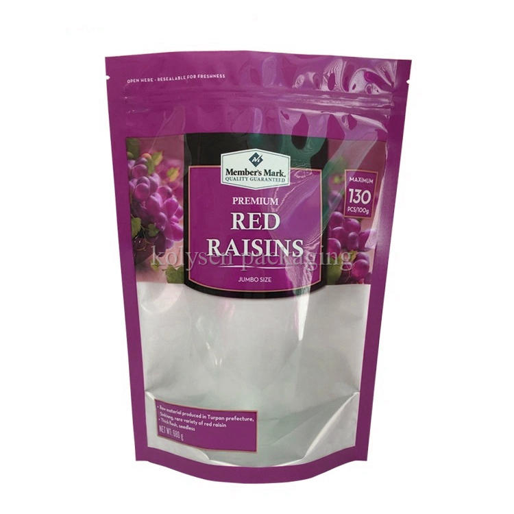 Stand up Resealable Pouches for Raisins