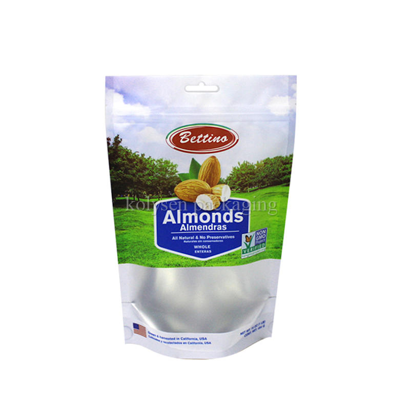 Almond Nuts Stand Up Plastic Bag