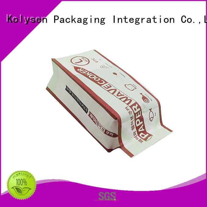 Custom making popcorn in a paper bag for business for microwave food