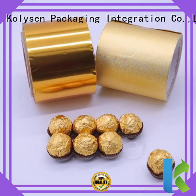 Kolysen Best butter foil paper factory for wrapping chewing gum