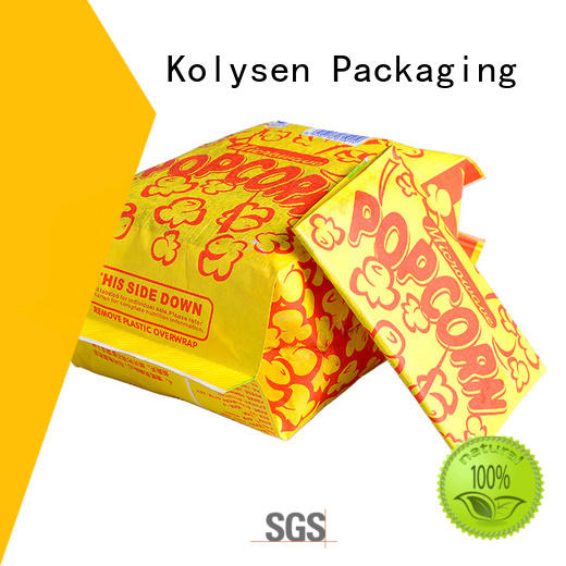 Kolysen pop popcorn without oil factory for food packaging