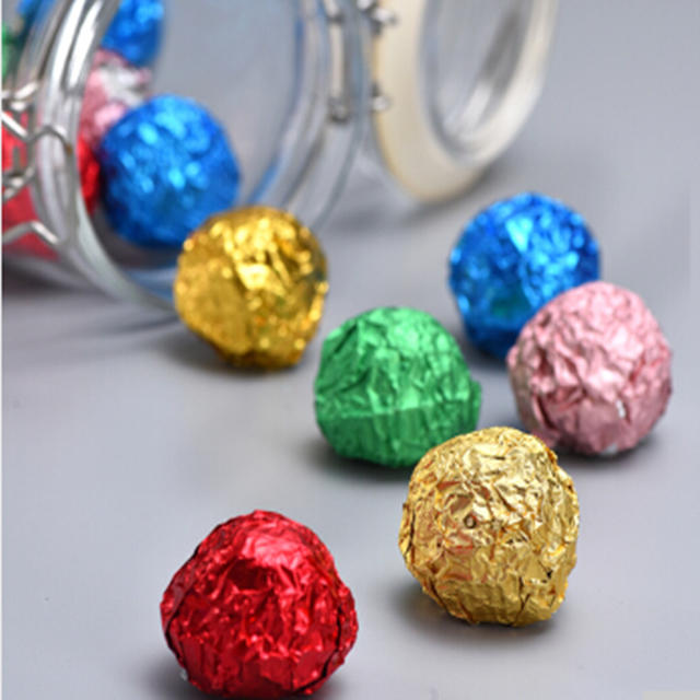 Wholesale colorful recycled packaging aluminum foil for candy chocolate wrapper