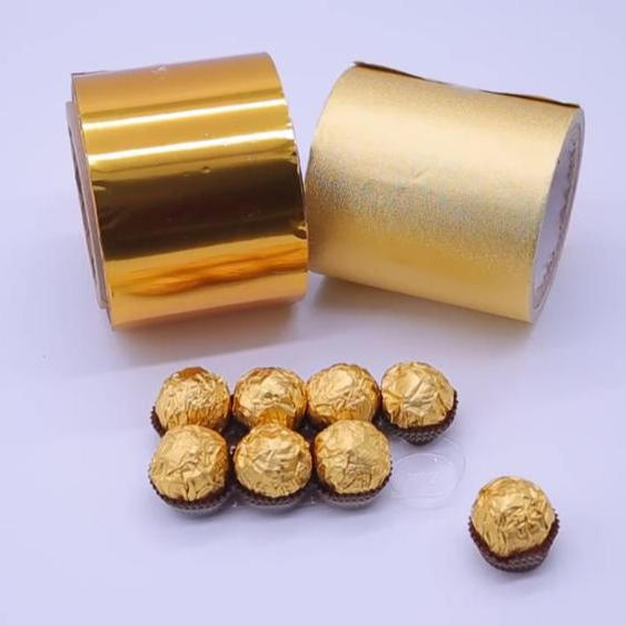 Gold Aluminum Foil wrapping Paper for Chocolate Candy Wrapping Food Packaging Paper-Kolysen