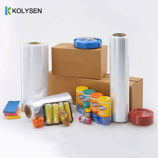 Printable Clear Plastic Heat Shrink Wrap Roll PVC POF PE BOPP Film