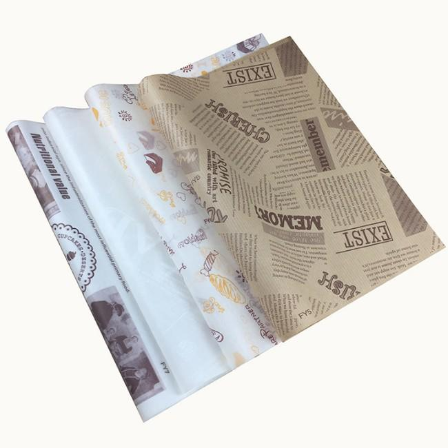 Custom printed 40gsm food greaseproof paper for sandwich packaging-Kolysen