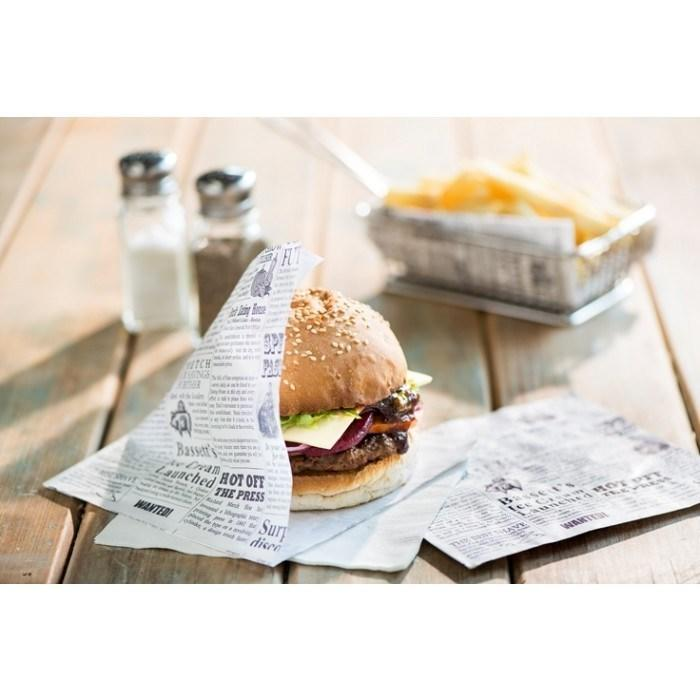 Custom Food Grade High Quality Greaseproof Paper Packaging For Burger Sandwich Manufacturer
