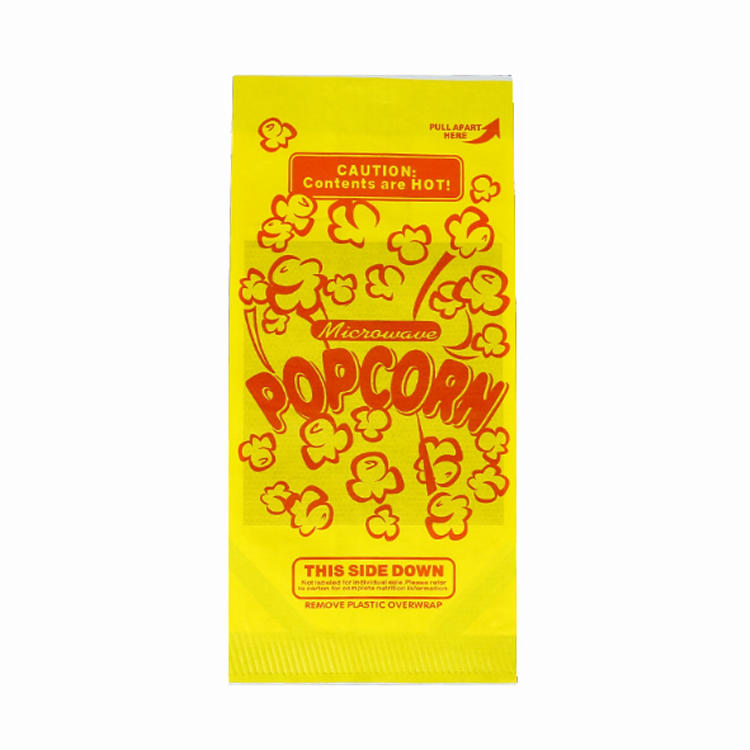 Food Grade Custom Logo Printing Design Size Greaseproof Kraft Paper Microwave Popcorn Packaging Bags-Kolysen