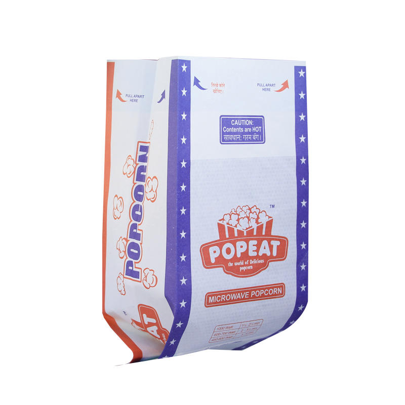 Popcorn Bags Sealable Greaseproof Kraft Paper Bags