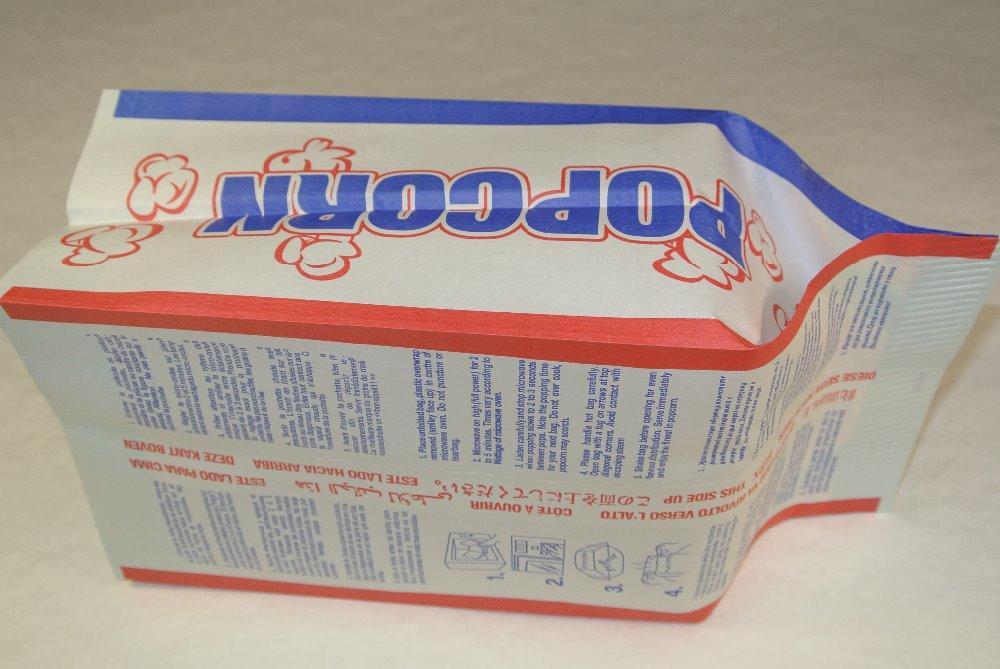 Top Factory Food Grade Custom Printed Packaging Kraft Paper Microwave Large Bag Popcorn -kolysen