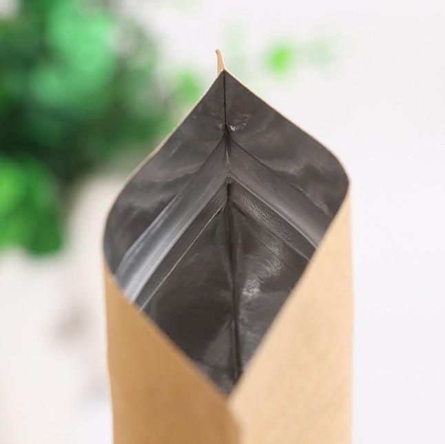 Factory Price Flat Bottom Kraft Paper Ziplock Bag For Food Packaging Wholesale-Kolysen