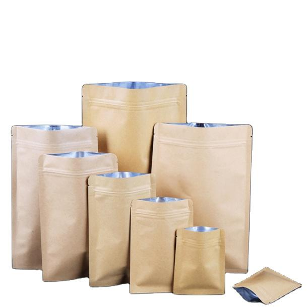 Factory Price Flat Bottom Kraft Paper Ziplock Bag For Food Packaging Wholesale-Kolysen