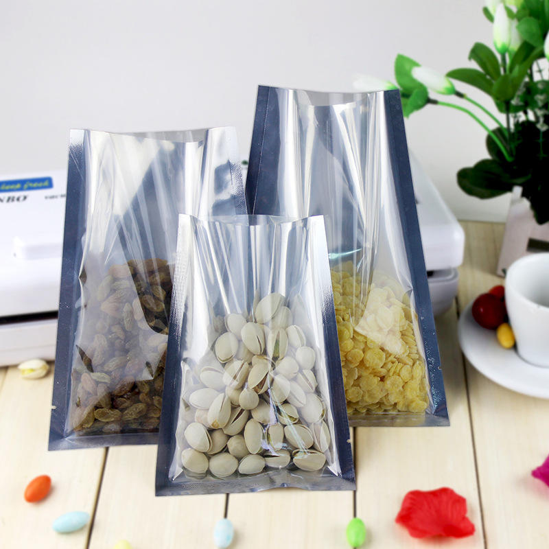 Three Sides Sealing Foil Vacuum Bag with Clear Front