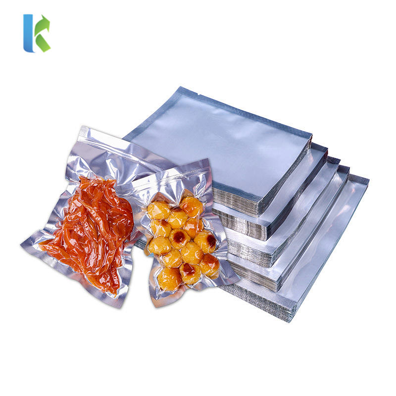 Food Grade Three Sides Sealing Aluminum Foil Vacuum Bag with Clear Front -Kolysen