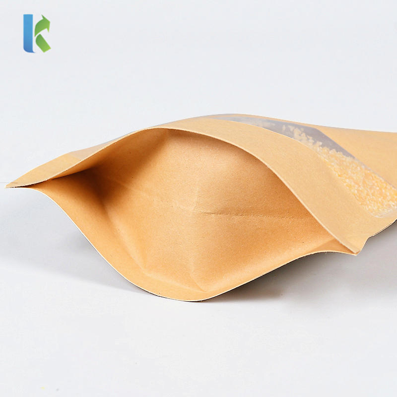 Wholesale Custom kraft Paper Food Bags Custom Logo Print Stand Up Zipper Bag For Flower Tea