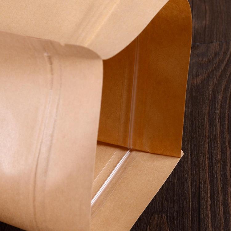 Kraft Paper Pouch with Matte Window