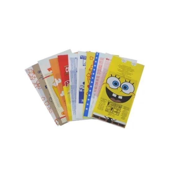 factory price custom printed microwave popcorn waterproof greaseproof kraft paper bag for food packaging