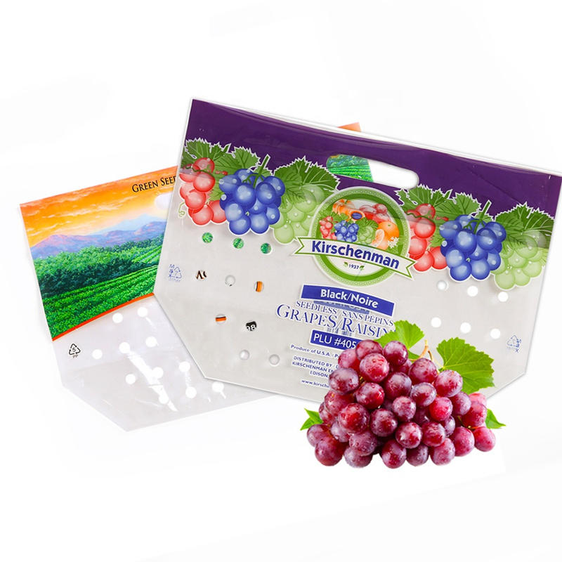 Custom Ziplock Fruit Bag With Air Holes For Fresh Fruit Packaging